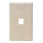 Leviton 1-Gang QuickPort Wall Plate Single-Port-Ivory