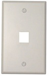 Leviton 1-Gang QuickPort Wall Plate Single-Port-White