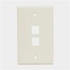 Leviton 1-Gang QuickPort Wall Plate Two-Port-White