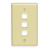 Leviton 1-Gang QuickPort Wall Plate Three-Port-Ivory
