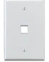 Leviton 1-Gang QuickPort Wall Plate Midway Sized Single Port-White