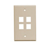 Leviton 1-Gang QuickPort Wall Plate Midway Sized Four Port-Ivory