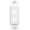 Leviton QuickPort Decora Wall Plate Insert Two Port-White