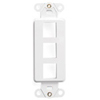 Leviton QuickPort Decora Wall Plate Insert Three Port-White