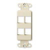 Leviton QuickPort Decora Wall Plate Insert Four Port-Ivory