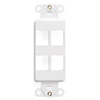 Leviton QuickPort Decora Wall Plate Insert Four Port-White