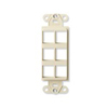 Leviton QuickPort Decora Wall Plate Insert Five Port-Ivory