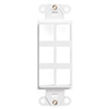 Leviton QuickPort Decora Wall Plate Insert Six Port-White