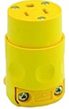 Leviton 15A PVC Grounding Connector Straight Blade-Yellow