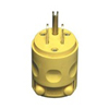 Leviton 15A PVC Grounding Plug Straight Blade-Yellow