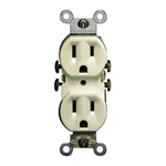 Leviton Duplex Receptacle with Quickwire and Self-Grounding-Ivory