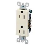 Leviton Decora Duplex Receptacle Quickwire Push-In and Side Wired-Almond