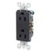 Leviton Decora Duplex Receptacle Quickwire Push-In and Side Wired-Black