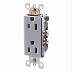 Leviton Decora Duplex Receptacle Quickwire Push-In and Side Wired-Gray