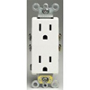 Leviton Decora Duplex Receptacle with Quickwire and Self-Grounding-White