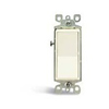 Leviton Decora Rocker Switch Single-Pole-Light Almond