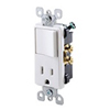 Leviton Decora Combination Single-Pole Switch and Receptacle-White