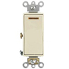 Leviton Decora Plus Illuminated Switch Single-Pole Commercial Grade-Almond