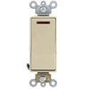 Leviton Decora Plus Illuminated Switch Single-Pole Commercial Grade-Ivory