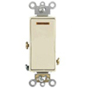 Decora Plus Illuminated Switch Single-Pole Commercial Grade-Light Almond