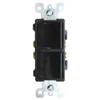 Leviton Decora Combination Switch Double Single-Pole Rocker-Black