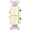 Leviton Decora Combination Switch Double Single-Pole Rocker-Light Almond