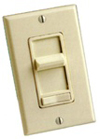 600W Decora Illuminated Decora SureSlide Incandescent Dimmer 3-Way-Ivory