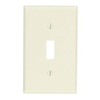Leviton 1-Gang Toggle Switch Wall Plate-Light Almond