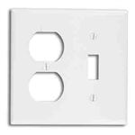 Leviton 2-Gang Combination Wall Plate 1-Toggle and 1-Duplex-Light Almond