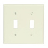 Leviton 2-Gang Toggle Switch Wall Plate-Light Almond
