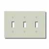 Leviton 3-Gang Toggle Switch Wall Plate-Light Almond