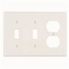 Leviton 3-Gang Combination Wall Plate-Light Almond