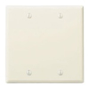 Leviton 2-Gang Blank Wall Plate-Light Almond