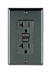 Leviton 20A Decora Plus GFCI Receptacle with Wall Plate-Black