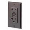 Leviton 20A Decora Plus GFCI Receptacle with Wall Plate-Gray