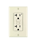 Leviton 20A Decora Plus GFCI Receptacle with Wall Plate-Light Almond