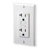 Leviton 20A Decora Plus GFCI Receptacle with Wall Plate-White