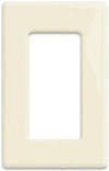 Leviton 1-Gang Decora Plus Screwless Wall Plate-Almond