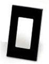 Leviton 1-Gang Decora Plus Screwless Wall Plate-Black