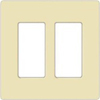 Leviton 2-Gang Decora Plus Screwless Wall Plate-Almond