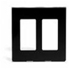 Leviton 2-Gang Decora Plus Screwless Wall Plate-Black