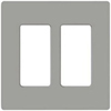 Leviton 2-Gang Decora Plus Screwless Wall Plate-Gray