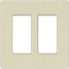 Leviton 2-Gang Decora Plus Screwless Wall Plate-Ivory