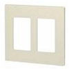 Leviton 2-Gang Decora Plus Screwless Wall Plate-Light Almond
