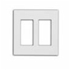 Leviton 2-Gang Decora Plus Screwless Wall Plate-White