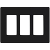 Leviton 3-Gang Decora Plus Screwless Wall Plate-Black