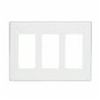 Leviton 3-Gang Decora Plus Screwless Wall Plate-White