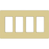 Leviton 4-Gang Decora Plus Screwless Wall Plate-Ivory