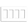 Leviton 4-Gang Decora Plus Screwless Wall Plate-White