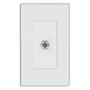 Leviton Single F Connector-White